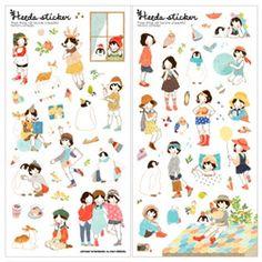 Korean Stickers & Diary Sticker, Heeda 6$, Watercolor, Korean Stationery   morecozymorecozy gift wrap