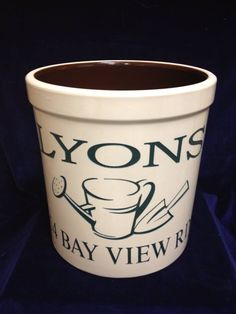 Personalized and etched pottery crocks