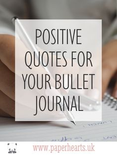 One of the best things about the bullet journal is its versatility. Not only is it a great tool for planning and tracking your time, it can also be used as a place to keep collections, such as positive quotes. Paper Hearts UK | Stationery & Bujo Specialists