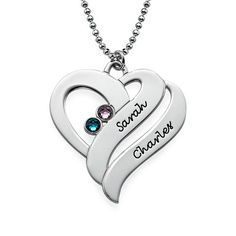 You may select any birthstones that you wish from the list below:<br><br><img border=0 width=100%  title=Swarovski Colors src=http://cdn.mynamenecklace.com.au/images/products/Swarovski_new_MNN.png alt=Swarovski Colors border=0 <a/>Beautiful birthstones and a personalized engraving come together to create our <b>Two Hearts Forever One Necklace with Birthstones</b>. Select up to two birthstones and two engravings to make this birthstone necklace special and meaningful. We love this heart…