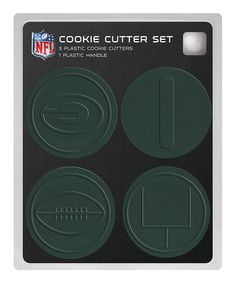 This Green Bay Packers Cookie Cutter Set is perfect! #zulilyfinds