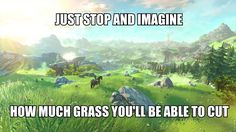 Just stop and imagine  how much grass you'll be able to cut