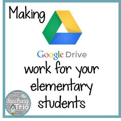 This is how I set up Google Drive to work in my elementary class. Easier than I thought it would be! Teaching Trio: Tech Thursday: Making Google Drive work for elementary students