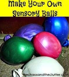 make your own sensory balls