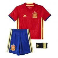 2016 Spain Home Football Shirts Red For Kids