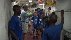 The Exchange Club gifts 650 kids a free tour of the Yorktown - WCIV-TV   ABC News 4 - Charleston News, Sports, Weather