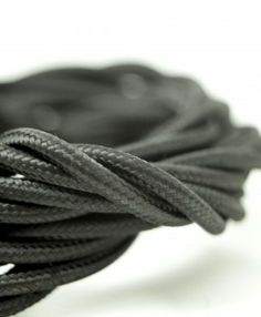 Black fabric cable is the perfect match for any interior decor