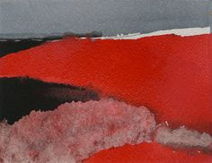 Miklós Szüts: Pictures in red 4., aquarell, paper, 17 x 22 cm, 2017