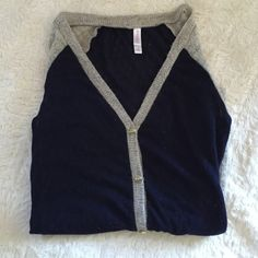 Adorable Cardigan Super soft with pockets. Lightweight. A go-to throw on that's great with jeans. Navy and beige. Fits true to size. Xhilaration Sweaters Cardigans