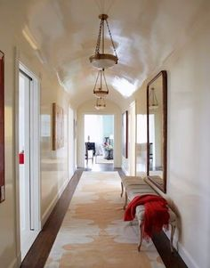 Try high gloss paint on walls and ceilings for added glamour to any room.