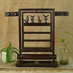 Wood Garden Jewelry Stand Display