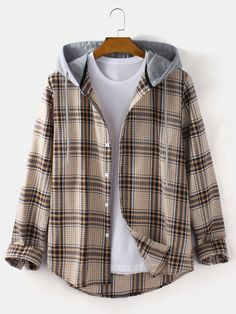 Loose Shirts, Henley Shirts, Long Sleeve Shirts, Themed Outfits, Tartan Plaid, Cute Casual Outfits, Casual Shirts, Look Cool, Aesthetic Clothes