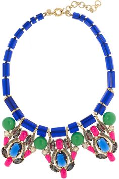 J.Crew | Three Station crystal and bead necklace | NET-A-PORTER.COM