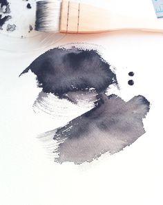 E.H.Sherman abstract watercolor marks