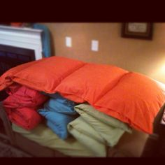 Pillow mattresses- sew pockets into a folded twin sheet and insert 4 standard size pillows.