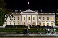 A night photo of the White House. This is a copyrighted photo. If you wish to purchase this photo or any other of my fine art prints, please visit my website at; http://jerryfornarotto.artistwebsites.com/