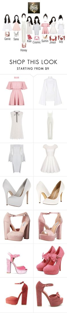 """The Dolls @ MAMA Red Carpet (June 2017)"" by thedolls-official ❤ liked on Polyvore featuring Boohoo, Jacquemus, self-portrait, Galvan, Chi Chi, Steve Madden, Michael Antonio, NESSA, Charlotte Russe and Topshop"
