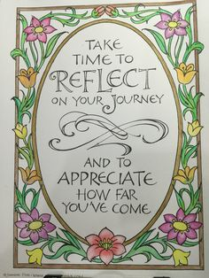 Time to reflect.. Coloring pages