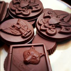 Mistledoe: Tempering Chocolate: Boy Scout Candy Molds