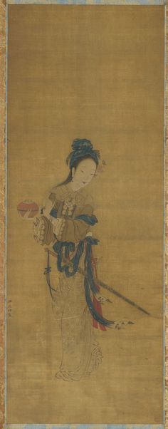 Mulan was an actual woman who, in disguise, answered the military draft for her aged father and served in an all-male army for twelve years.  | Red Thread Steals a Gold Box | 19th century | Zhou Wenju, (Chinese, active mid-10th century) | Qing dynasty | Ink and color on silk | China | Gift of Charles Lang Freer | Freer Gallery of Art | F1911.264
