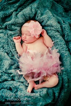 sweet 10 day old baby girl in a tutu - love this shot! - (c) Valerie Schooling Photography, www.valerieschooling.com