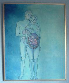 """""""Genesis"""" B.R.Barber  1970 oil on canvas 80x100cm"""