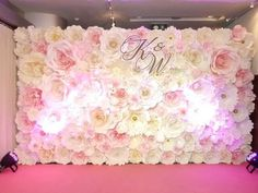 pink wedding paper backdrop