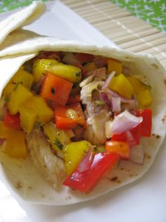 An Easy Summer Meal - Fish Tacos with Mango Salsa