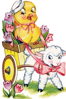 Sweet Easter cards of the past...