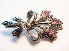 Vintage Avon Marcasite Flower Brooch Pin by RepurposedTreasure, $13.50    ....SOLD