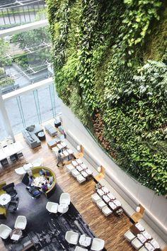 Vertical garden at Hotel Icon in Tsim Sha Tsui, Hong Kong