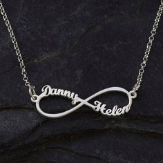 Infinity Name Necklace with Two Names on by KHandmadeCreations, $54.00