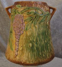 Large Roseville Pottery Wisteria Vase