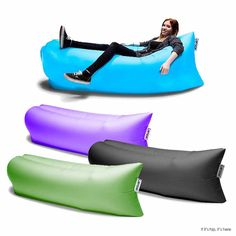 Try a Lamzac sofa. It comes in a 2.8 pound backpack and rolls out to be a 78.7 (length) x 35.4 (width) in inches of high quality nylon ripstop.
