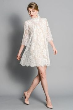 plus mini dress brokat Dress Skirt, Lace Dress, Dress Up, White Dress, Little Dresses, Pretty Dresses, Dress Brokat, Dress Images, Mode Hijab
