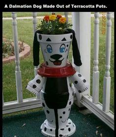 Dog porch pot