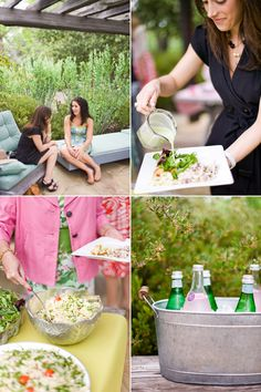 Preppy Pink and Green Bridal Shower | Snippet & Ink