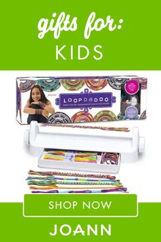 Not sure what to give your children or grandkids for Christmas? Check out this list of Kids Gifts from JOANN! There's fun and cute ideas like Loopdedoo Spinning Loom Kit, Melissa & Doug Wooden Make A Cake Set, and Cool Maker Jojo Siwa Bow Maker. Cool Gifts For Kids, Kids Gifts, Gifts For Him, Holiday Gift Guide, Holiday Gifts, Jojo Siwa Bows, Science Games, Craft Kits, How To Make Cake