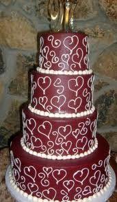Maroon cake for wedding cake too.