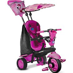 Smart Trike Touch Steering 4-in-1 Safari Ride On - Flamingo