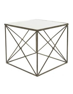 Furano Side Table in Zinc design by Aidan Gray
