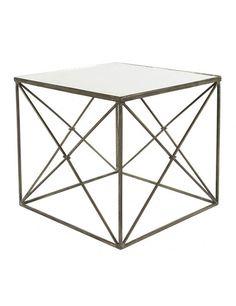 Furano Side Table in Zinc design by Aidan Gray