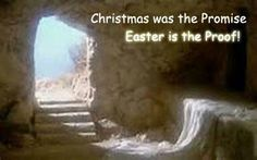 """HE IS RISEN ~ Easter is Resurrection Sunday.It's okay to enjoy bunnies &  eggs,but don't forget the real meaning of Easter.Jesus said to her, """"I am the resurrection & the life.He who believes in me,though he may die,he shall live -John 11: 25. The resurrection of Jesus Christ is a gift from God & fulfillment of His promise.It is the very foundation of Christianity.Eternal death is not what God wants for us,He provided a way of atonement for our sins thru the crucifixion & resurrection of His…"""