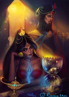 I wonder if this is how they cast and stylized the genie's mother in OUAT in wonderland