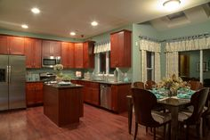Kitchen In Beachy Colors At Hickory Farms At Berkeley, Bayville, NJ