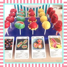 Viren, Bakterien und Parsiten mal zum Genießen  #cakepops by #sandybel #nürnberg #fürth #sweets #medical #erlangen #bakterien #viren #parasiten