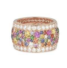 #RoseGold #MultiColoured #Diamond #Rings #jewellery