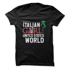 Italian girl in an U.S world - #grafic tee #old tshirt. CHECK PRICE => https://www.sunfrog.com/States/Italian-girl-in-a-US-world.html?68278