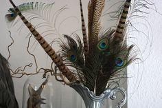 interior inspiration feathers peacock pheasant