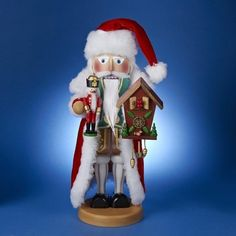 German Santa Nutcracker Part 22 in the Christmas Legends series 5000 piece limited edition Handcrafted in Germany Made from wood Approximately 17 inches tall Includes original manufactures box and packaging Made by Steinbach Volkskunst GmbH German Christmas, Father Christmas, Santa Christmas, Christmas Ornaments, Christmas Ideas, Nutcracker Decor, Nutcracker Christmas, German Nutcrackers, Santa Claus Figure